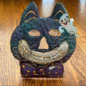 NWOT Metal Cheshire Cat 3D tea light candle holder